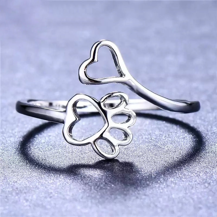 Paw Lover Adjustable Ring