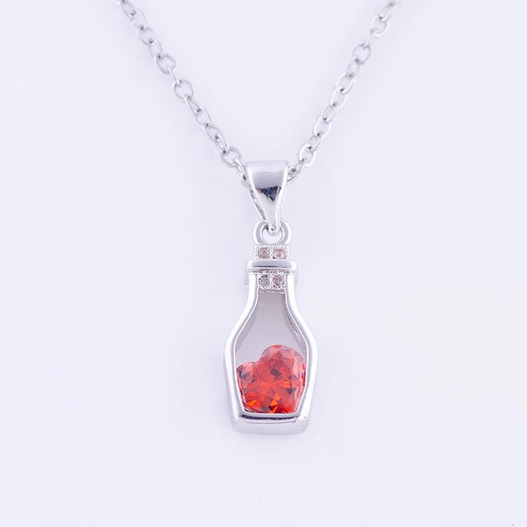 Mini Heart In Bottle Necklace