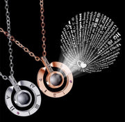 'I Love You' in 100 Languages Projection Necklace