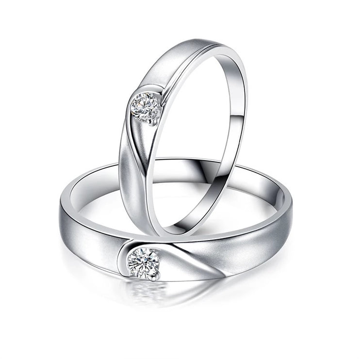 Heart Shaped Couple Rings