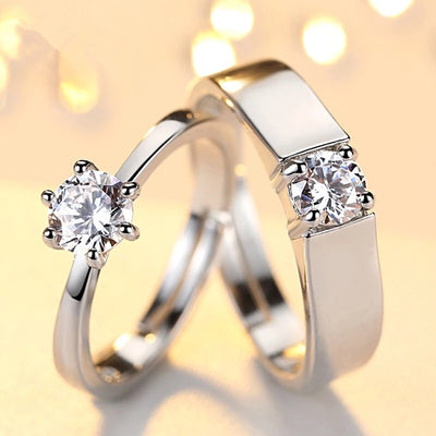 Glaring Crystal Couple Rings
