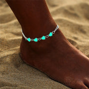 Double Chain Glowing Hearts Anklet