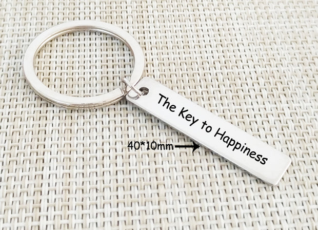 Key to Happiness Keychain