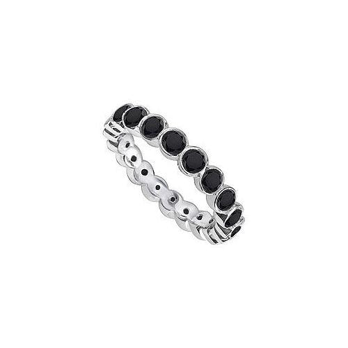 Black Diamond Eternity Band : 14K White Gold - 1.00 CT Diamonds