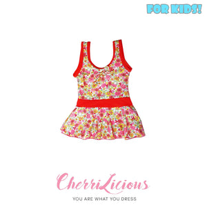 【SPECIAL!!! 】Swimwear for KIDS! </br> 螢光橙色女生可愛泳裝 (1-2 years old) - You Are What You Dress