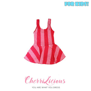 【SPECIAL!!! 】Swimwear for KIDS! </br> 粉紅波點橫間女生泳裝  (1-2 years old)