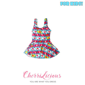 【SPECIAL!!! 】Swimwear for KIDS! </br> 粉藍天鵝女生泳裝  (3-4 years old) - You Are What You Dress