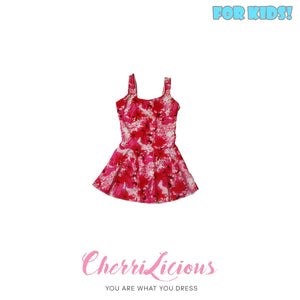 【SPECIAL!!! 】Swimwear for KIDS! </br> 桃紅紮染花圖案女生泳裝  (3-4 years old)