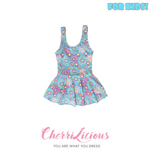 【SPECIAL!!! 】Swimwear for KIDS! </br> 粉藍花花圖騰女生泳裝  (3-4 years old) - You Are What You Dress