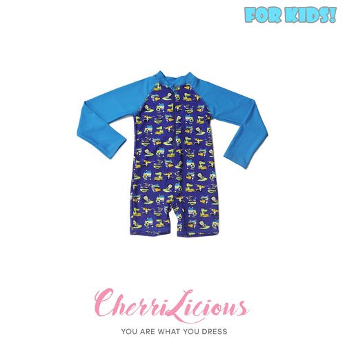 【SPECIAL!!! 】Swimwear for KIDS! </br>藍色 貓咪恐龍 男生泳裝  (2-3 years old) - You Are What You Dress