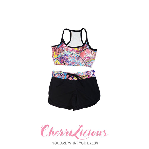 Water Sports Top & Pants Set </br> 彩色圖騰水上運動背心短褲套裝 - You Are What You Dress