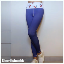 Legging / Yoga Pants </br> CHERRILICIOUS 櫻桃打底褲系列 (紫藍色)