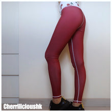 Legging / Yoga Pants </br> CHERRILICIOUS 櫻桃打底褲系列 (酒紅色)