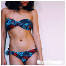 【NEW IN!!!】Tube Bikini 無肩帶藍色骷髏頭比堅尼 - You Are What You Dress