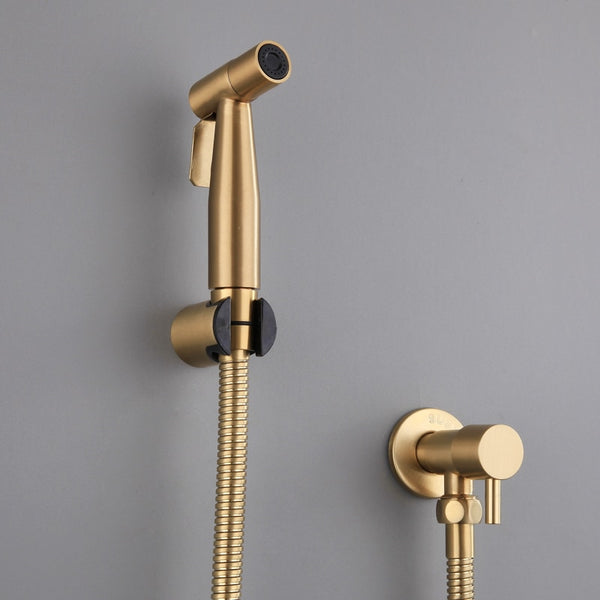 Antique Brushed Gold Douche Kit