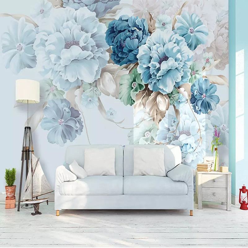 Hand-painted Peony Floral Wallpaper
