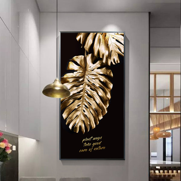 Gold Leaf Canvas Painting