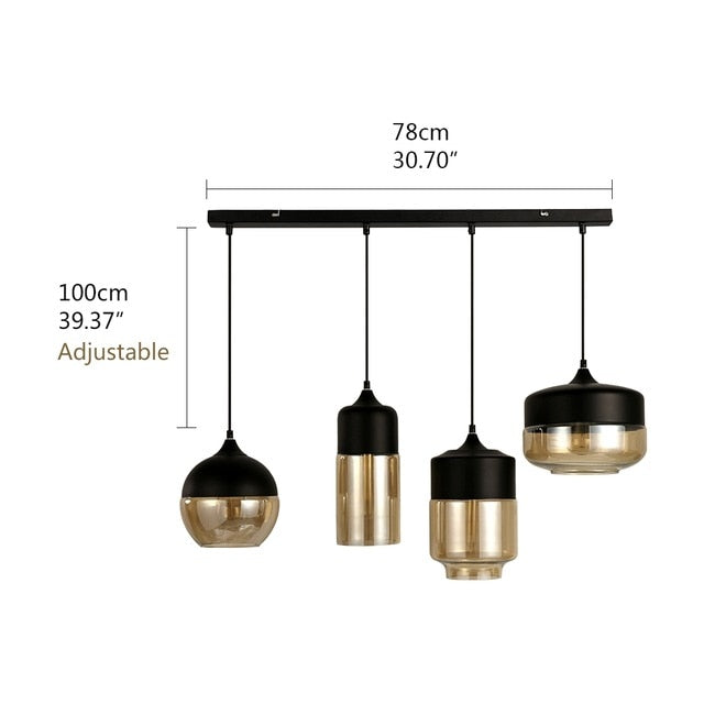 Nordic Glass Pendant Lamp