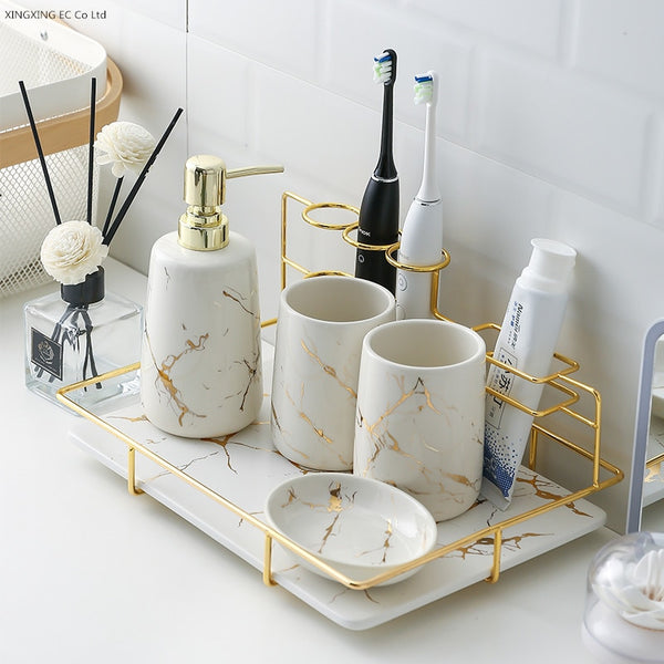 Marble Ceramic Bathroom Kit