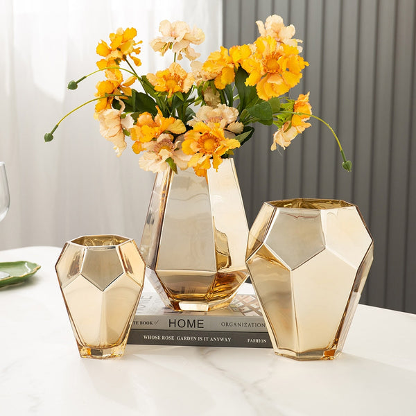 Electroplating Glass Vase