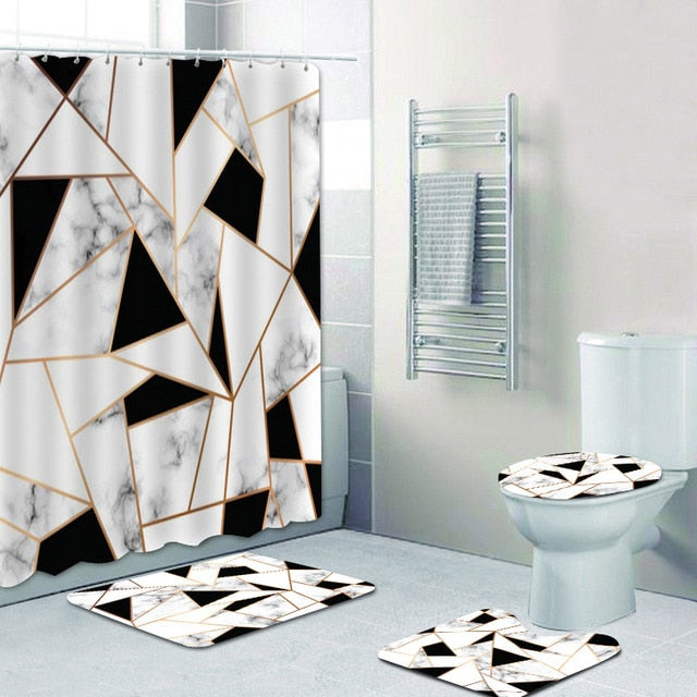 Geometric & Marble Shower Set