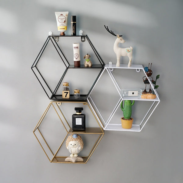 Wall Hexagonal Storage Rack