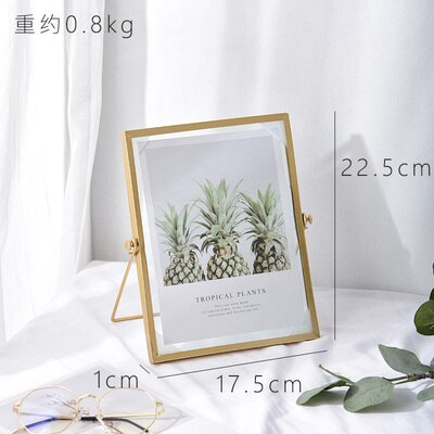 Metal Glass Picture Frame