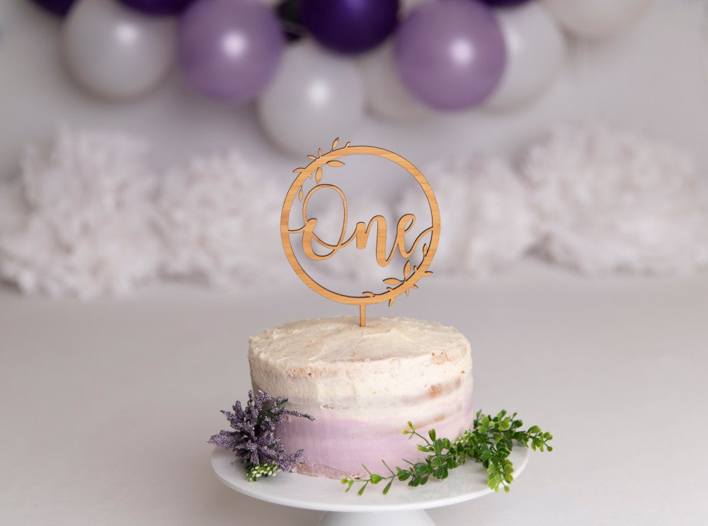 Botanical 'One' Cake Topper