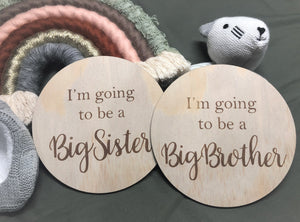 I'm going to be a Big Sister Plaque (14cm)