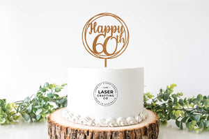 Decorative Happy 60th Cake Topper