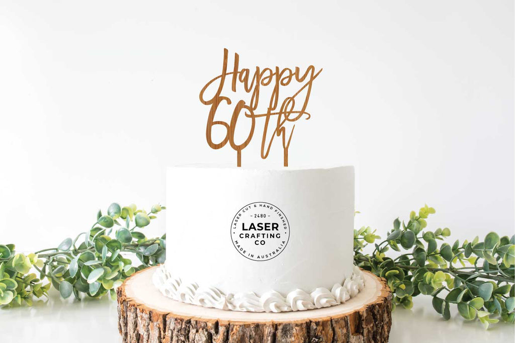 Happy 60th Cake Topper