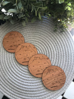 Laser Cut Australia Map Coasters