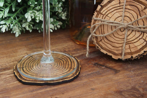Laser Cut Tree Ring Coasters