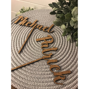 Single Word Cake Topper