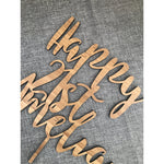 Three Word Cake Topper