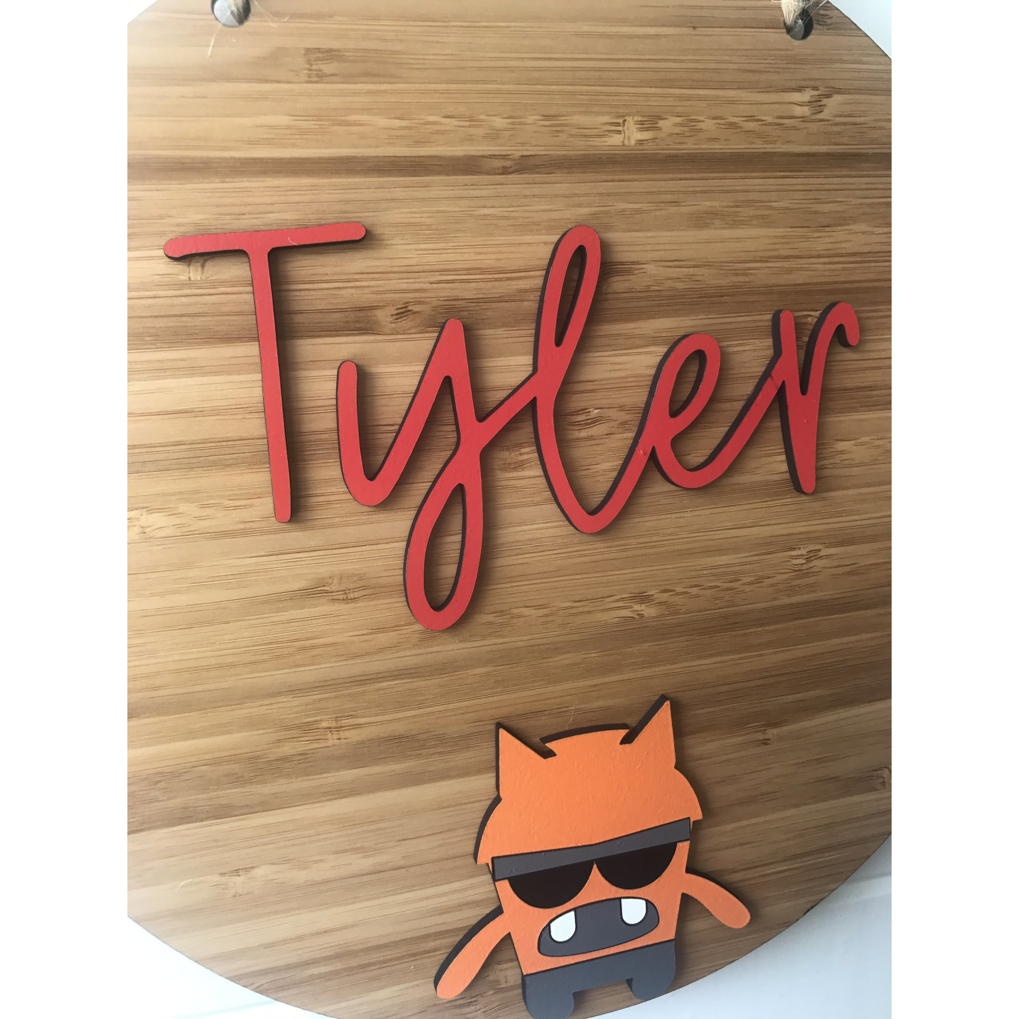 Orange Monster Plaque