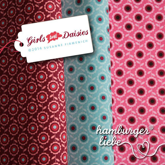 BABYCORD HAMBURGER LIEBE GIRLS LOVE pink 0,25m