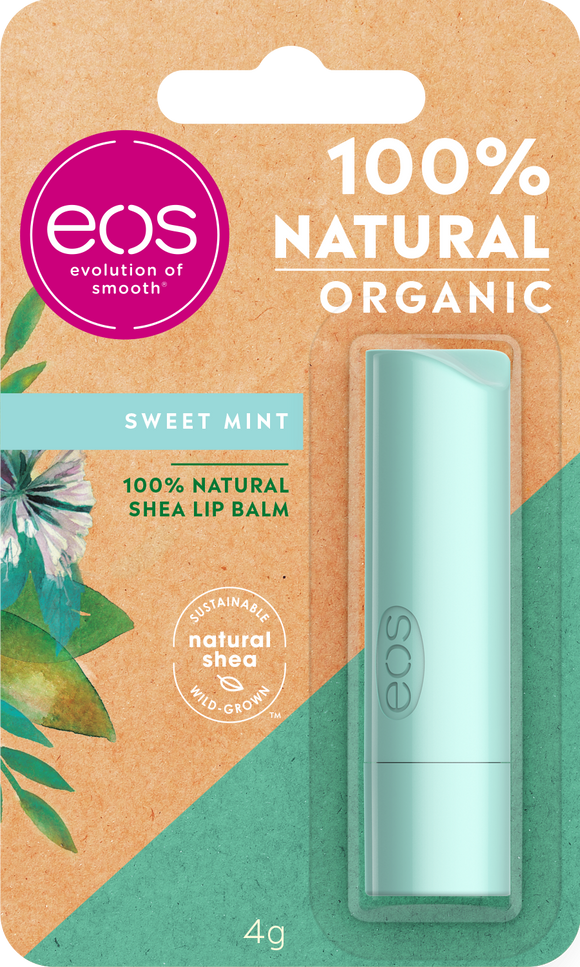eos Organic Sweet Mint Lip Balm Stick, 4g