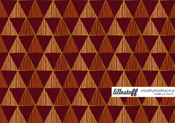 BIO-Jersey, Lillestoff, GEOMETRIC RED 0,25m
