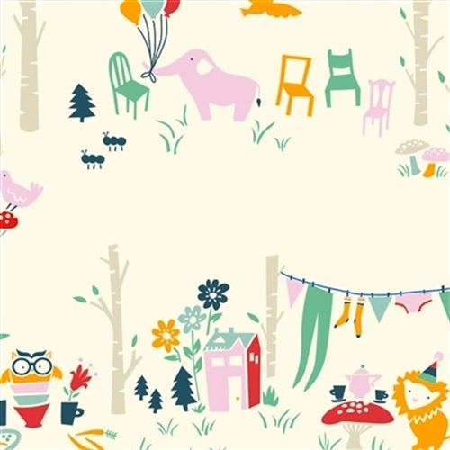 BIO-INTERLOCK Birch Fabrics,EVERYDAY PARTY MAIN