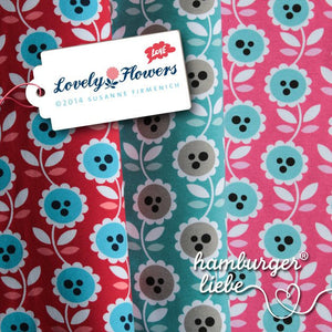 JERSEY HAMBURGER LIEBE LOVELY FLOWER, pink- 0,25m