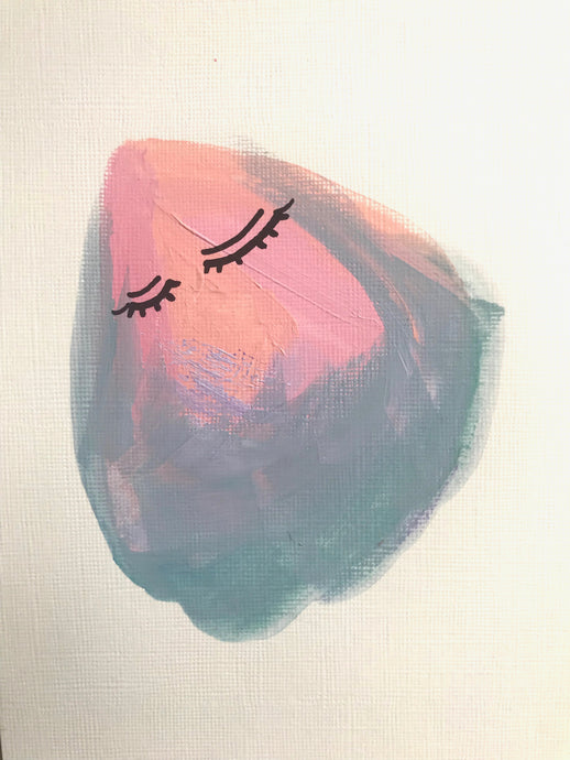 Fancy Empathy: Acrylic Feels Painting 5x7