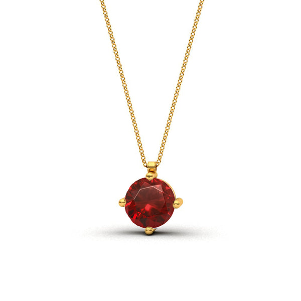 Collier Solitaire Rubis