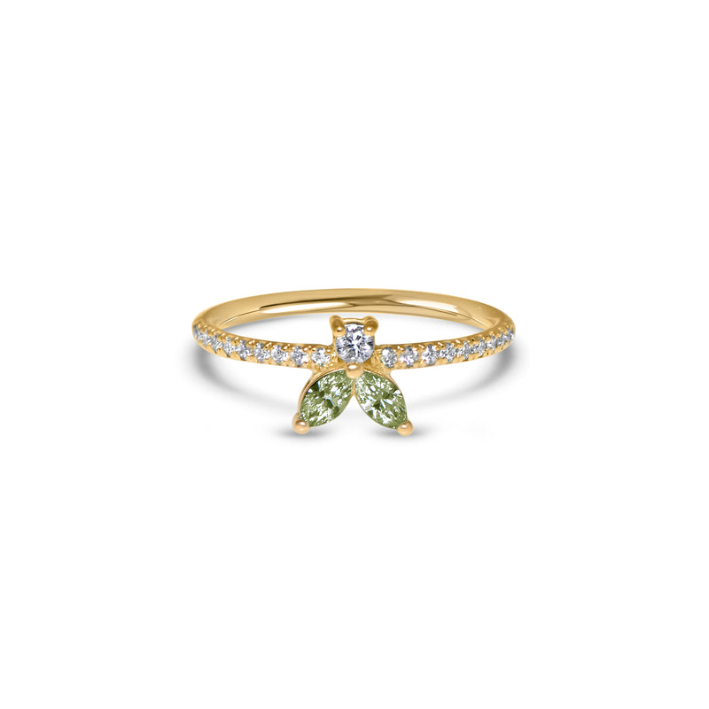 The Fancy Little Bee Tourmaline vert antique