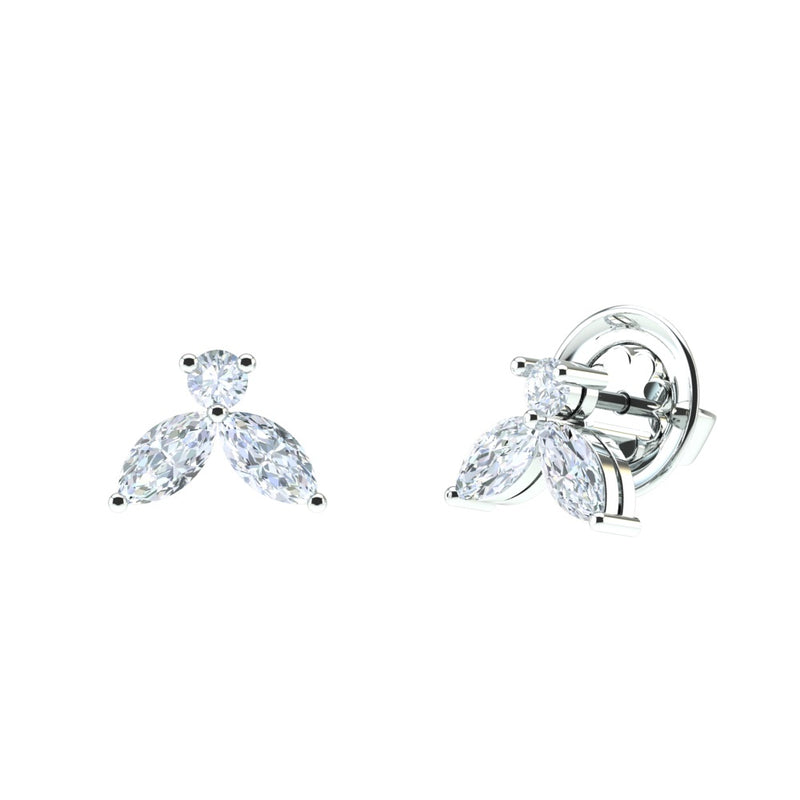 Boucles d'oreilles en or 18K  et diamants Linea Verde d'environ 1.00ct