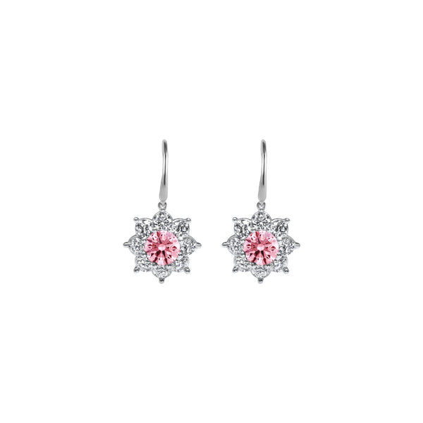 Boucles d'oreilles The Blooming Pink Flower