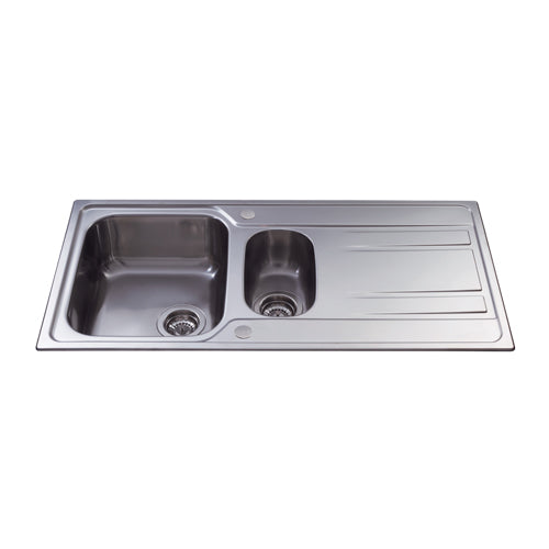 KA72 - Stainless Steel One and a Half Bowl Sink