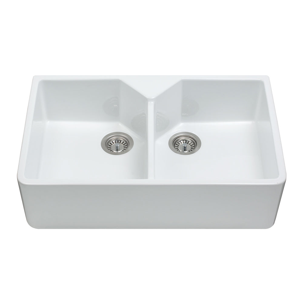 KC12 Ceramic Double Belfast Sink
