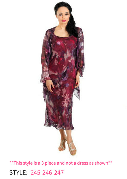 Lewis Henry 245-246-247 burgundy skirt top 3 piece mother of the bride autumn winter 2018