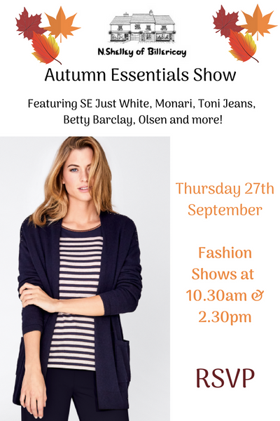 Autumn essentials show n.shelley of billericay autumn events fashion shows